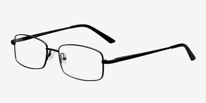 Brodie Black Metal Eyeglass Frames from EyeBuyDirect, Angle View