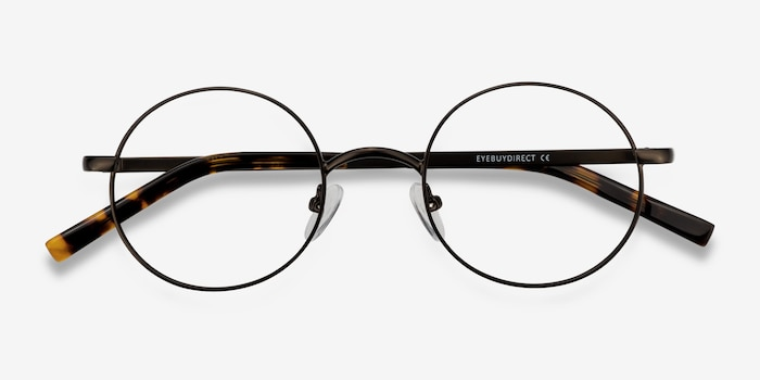 Socrates Gunmetal Metal Eyeglass Frames from EyeBuyDirect, Closed View