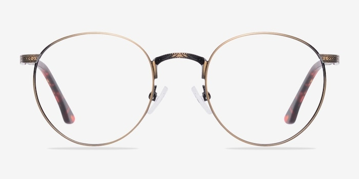 Fitzgerald  Bronze Metal Eyeglass Frames from EyeBuyDirect, Front View