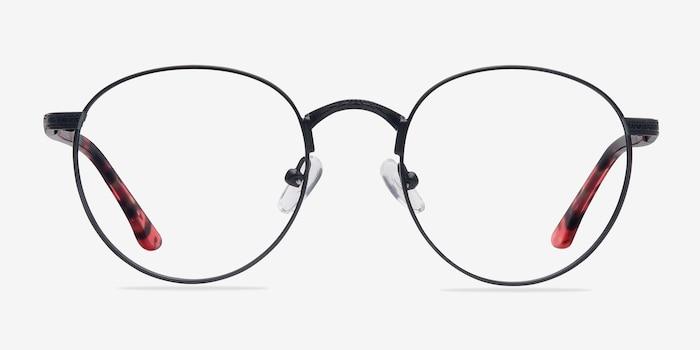 Fitzgerald  Black  Métal Montures de Lunettes d'EyeBuyDirect, Vue de Face