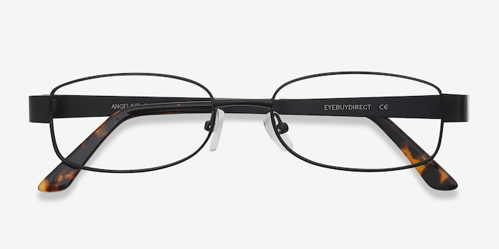 Angeline  Black  Metal Eyeglass Frames from EyeBuyDirect, Closed View
