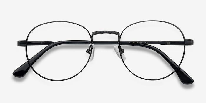 Belleville Matte Black  Métal Montures de Lunettes d'EyeBuyDirect, Vue Rapprochée