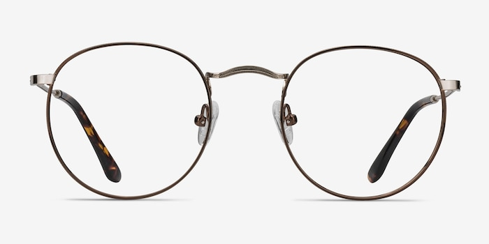 Daydream Brown/Golden Metal Eyeglass Frames from EyeBuyDirect, Front View