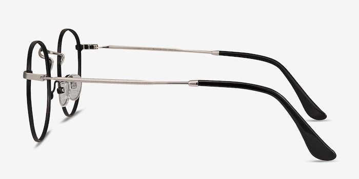 Daydream Black/Silver Metal Eyeglass Frames from EyeBuyDirect, Side View