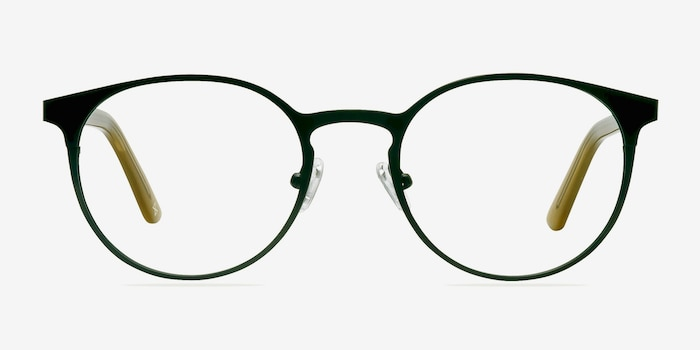 Outline Black Steel/Acetate Metal Eyeglass Frames from EyeBuyDirect, Front View
