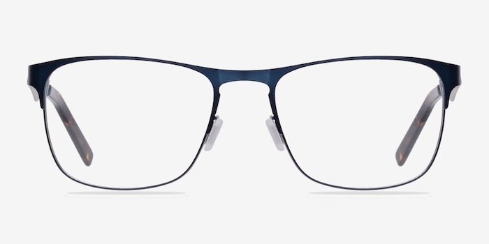 Bethnal Green Navy Metal Eyeglass Frames from EyeBuyDirect, Front View