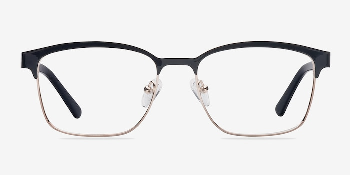Sublime  Black Golden  Metal Eyeglass Frames from EyeBuyDirect, Front View