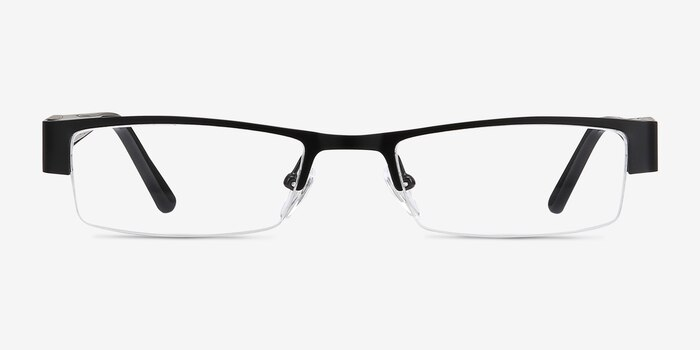 Bud Black Metal Eyeglass Frames from EyeBuyDirect, Front View