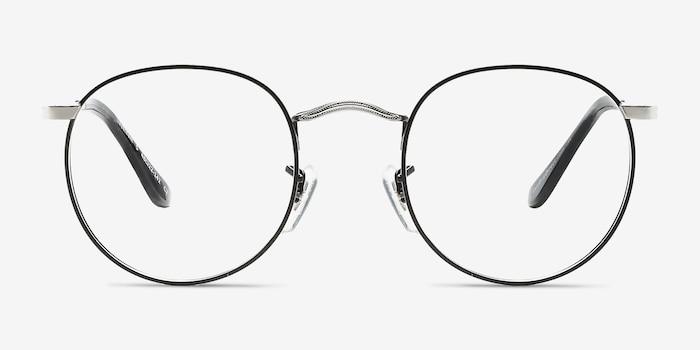 Daydream Black Silver Métal Montures de Lunettes d'EyeBuyDirect, Vue de Face