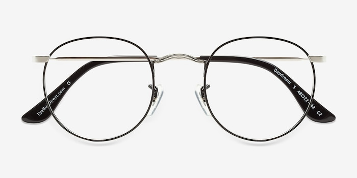 Daydream Black Silver Métal Montures de Lunette de vue d'EyeBuyDirect, Vue Rapprochée