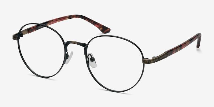 Fitzgerald Noir/Bronze Métal Montures de Lunettes d'EyeBuyDirect, Vue d'Angle