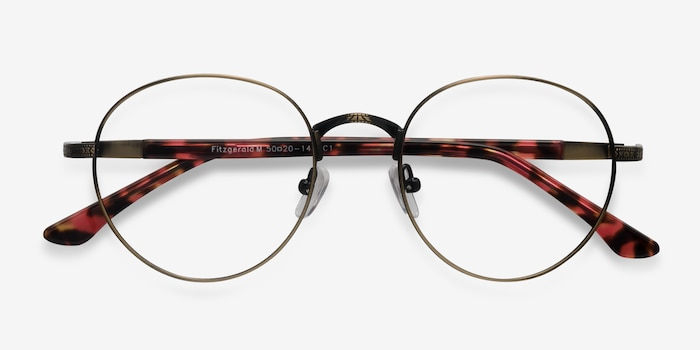 Fitzgerald Bronze Metal Eyeglass Frames from EyeBuyDirect, Closed View