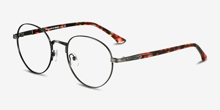 Fitzgerald Black & Tortoise Metal Eyeglass Frames from EyeBuyDirect, Angle View