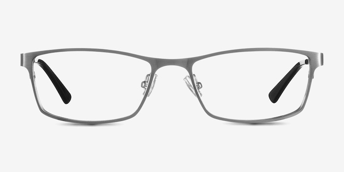 Germantown  Silver  Metal Eyeglass Frames from EyeBuyDirect, Front View