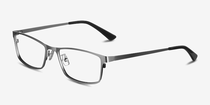 Germantown  Silver  Metal Eyeglass Frames from EyeBuyDirect, Angle View