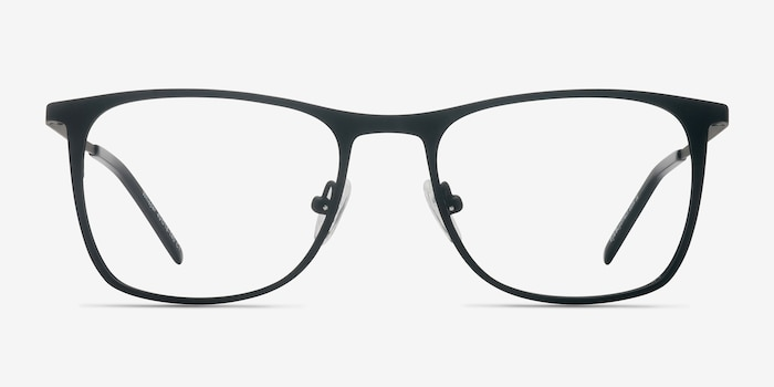 Whisper Matte Black Metal Eyeglass Frames from EyeBuyDirect, Front View