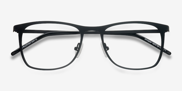 Whisper Matte Black Metal Eyeglass Frames from EyeBuyDirect, Closed View