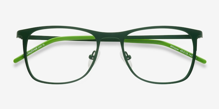 Whisper Matte Green Metal Eyeglass Frames from EyeBuyDirect, Closed View