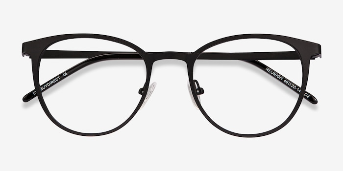c8b32bbaa8380 Reunion Matte Black Metal Eyeglass Frames from EyeBuyDirect