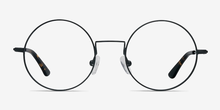 544d0854a8ab Someday Black Metal Eyeglass Frames from EyeBuyDirect, Front View
