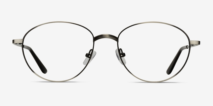 Nara Gunmetal Metal Eyeglass Frames from EyeBuyDirect, Front View