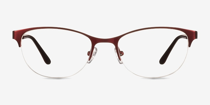Melody  Red  Metal Eyeglass Frames from EyeBuyDirect, Front View