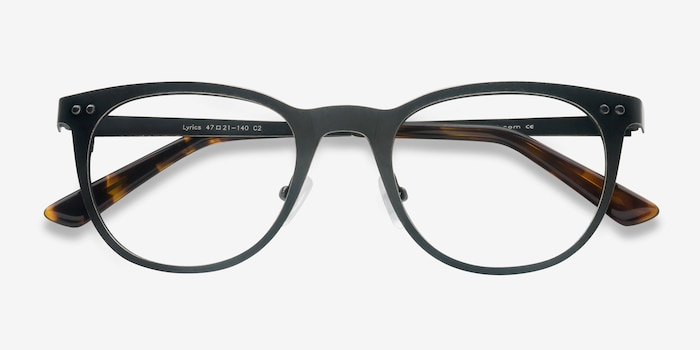 Lyrics Black Metal Eyeglass Frames from EyeBuyDirect, Closed View