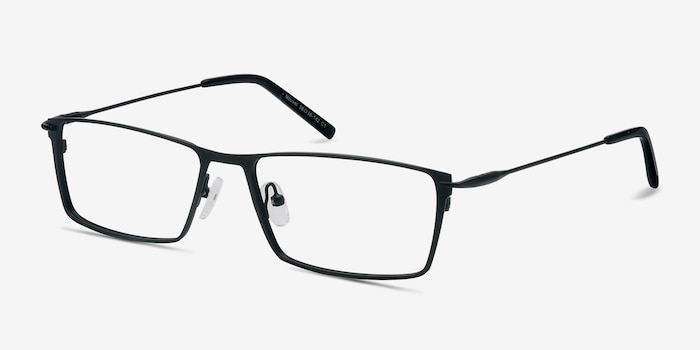 Nouvel Black Metal Eyeglass Frames from EyeBuyDirect, Angle View