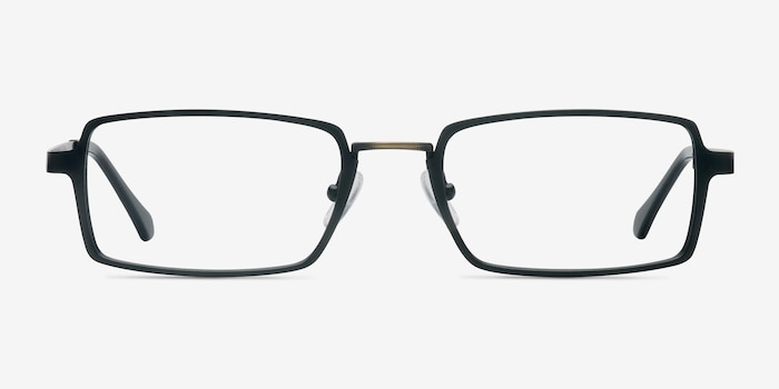 Venturi Black Metal Eyeglass Frames from EyeBuyDirect, Front View