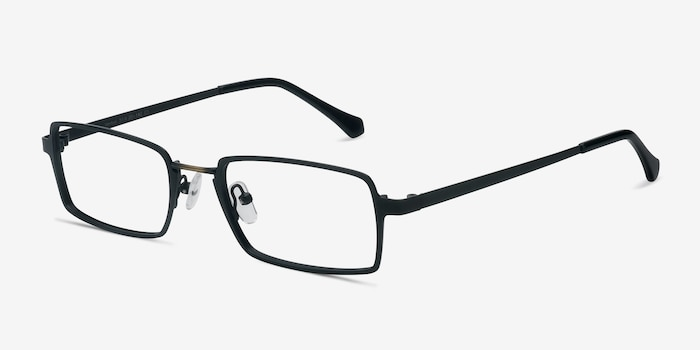 Venturi Black Metal Eyeglass Frames from EyeBuyDirect, Angle View