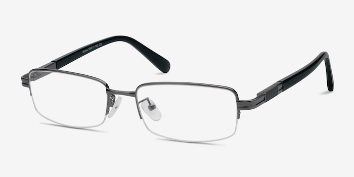 Above Gunmetal Metal Eyeglass Frames from EyeBuyDirect, Angle View