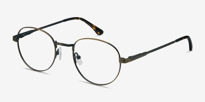 Belleville Bronze Metal Eyeglass Frames from EyeBuyDirect, Angle View
