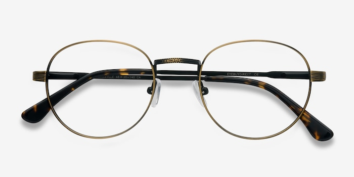 Belleville Bronze Metal Eyeglass Frames from EyeBuyDirect, Closed View