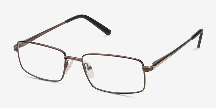 Parcel Brown Metal Eyeglass Frames from EyeBuyDirect, Angle View