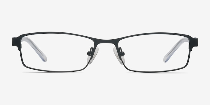Olsen Black Metal Eyeglass Frames from EyeBuyDirect, Front View