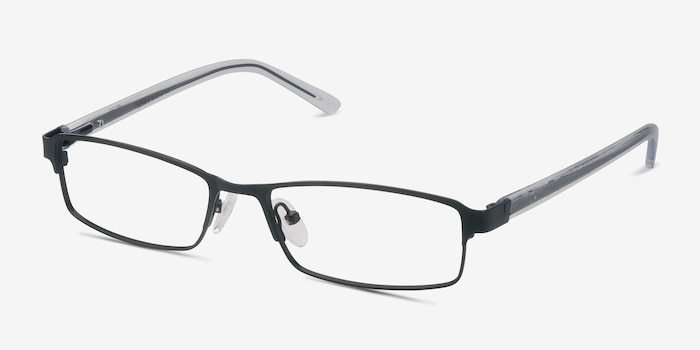 Olsen Black Metal Eyeglass Frames from EyeBuyDirect, Angle View