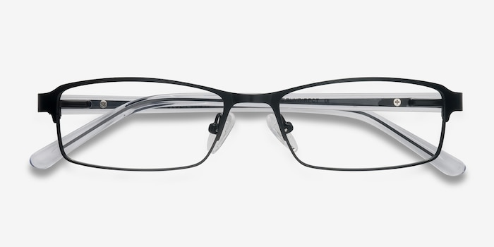 Olsen Black Metal Eyeglass Frames from EyeBuyDirect, Closed View