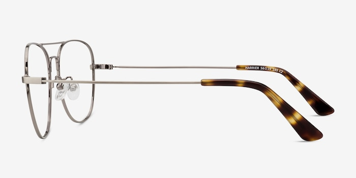 Harrier Gunmetal Metal Eyeglass Frames from EyeBuyDirect, Side View