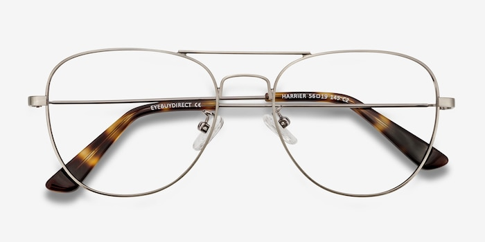 Harrier Gunmetal Metal Eyeglass Frames from EyeBuyDirect, Closed View