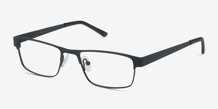 Java Black Metal Eyeglass Frames from EyeBuyDirect, Angle View