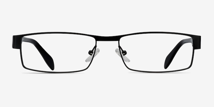Katia Black Metal Eyeglass Frames from EyeBuyDirect, Front View