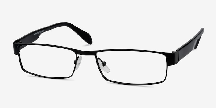 Katia Black Metal Eyeglass Frames from EyeBuyDirect, Angle View