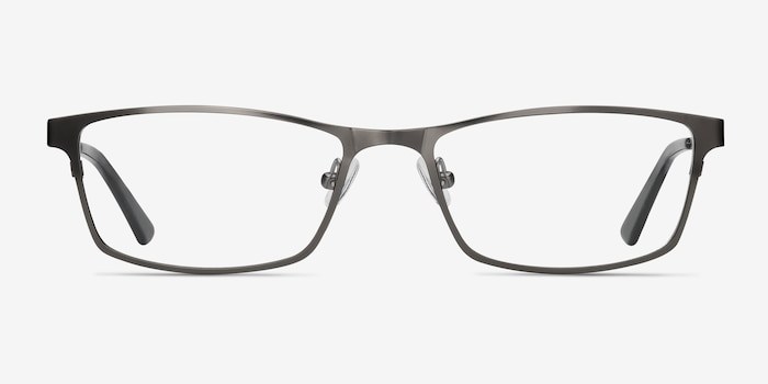 Germantown Gunmetal Metal Eyeglass Frames from EyeBuyDirect, Front View