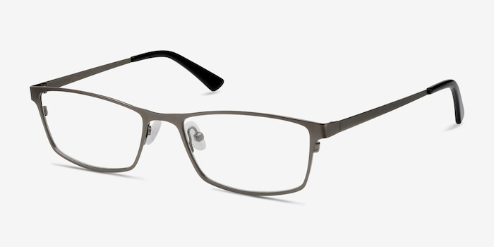 Germantown Gunmetal Metal Eyeglass Frames from EyeBuyDirect, Angle View