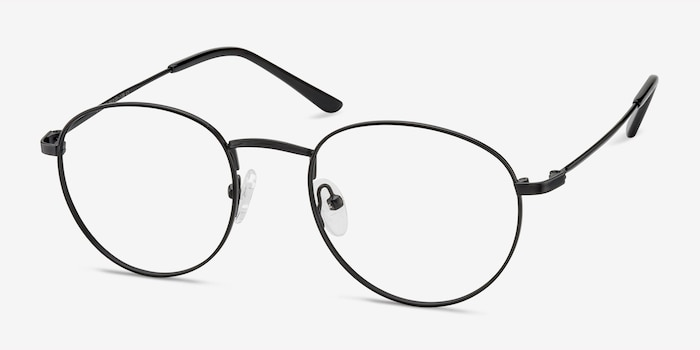 Epilogue Black Metal Eyeglass Frames from EyeBuyDirect, Angle View