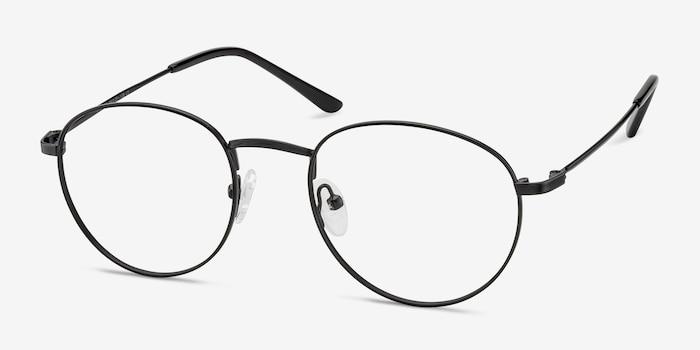 Epilogue Noir Métal Montures de Lunette de vue d'EyeBuyDirect, Vue d'Angle