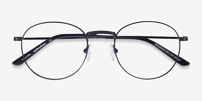 Epilogue Black Metal Eyeglass Frames from EyeBuyDirect, Closed View