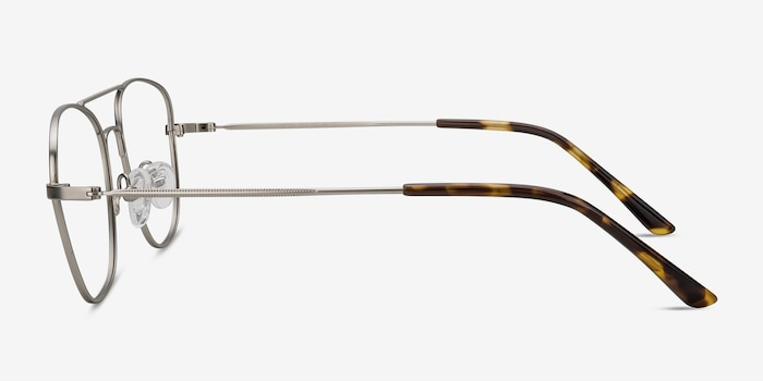 Captain Silver Metal Eyeglass Frames from EyeBuyDirect, Side View