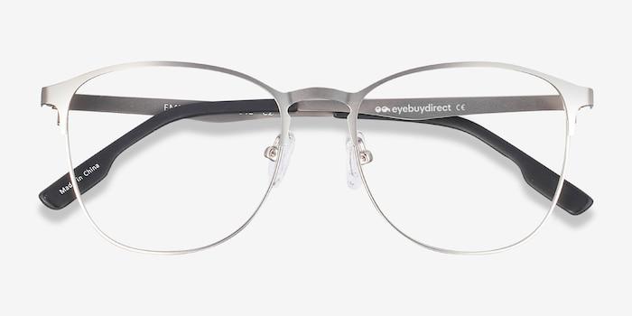 Ember Argenté Métal Montures de Lunettes d'EyeBuyDirect, Vue Rapprochée