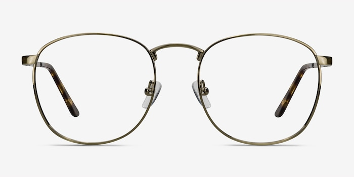 St Michel Bronze Metal Eyeglass Frames from EyeBuyDirect, Front View